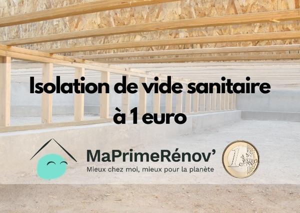 isolation de vide sanitaire à 1 euro